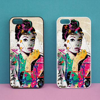 iphone 5S case,Audrey Hepburn,iphone 5C case,iphone 5 case,iphone 4S case,ipod 4 case,ipod 5 case,ipod case,Blackberry Z10 case,Q10 case
