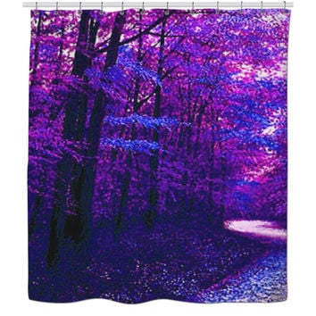 Trippy Forest Shower Curtain