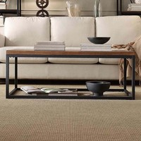 HomeVance Brynn Industrial Rustic Coffee Table (Brown)