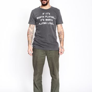 If It's Worth Playing It's Worth Playing Loud Men's Tee-Shirt