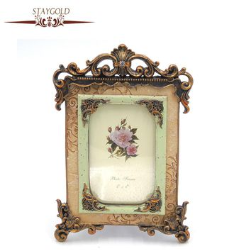 Palace Resin Vintage Photo Frame Stereo Photo Frame Home Decor Shabby Chic 6 Inch 16*26cm