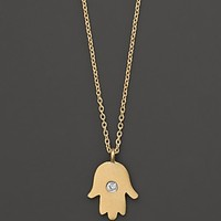 Meira T 14K Yellow Gold Hamsa Necklace, 16""