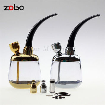 Zobo Cool Gadgets Portable Mini Acrylic Water Smoking Pipe Shisha Hookah Bicircu