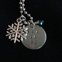 Disney's Frozen Inspired Hand Stamped Necklace