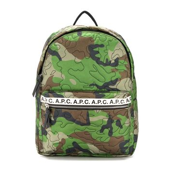 Camouflage Leather Backpack by A.P.C.
