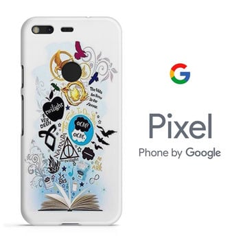 Divergen Hunger Games Twilight and All Book Collage Google Pixel Phone 3D Case
