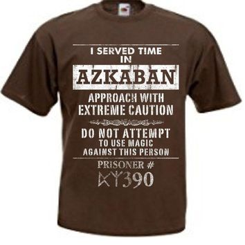 Harry Potter I Served Time In Azkaban Men's Brown T-Shirt
