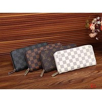LV Women Shopping Leather Print Wallet Purse I-LLBPFSH