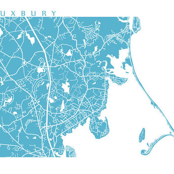 Duxbury Map Print - Massachusetts Poster