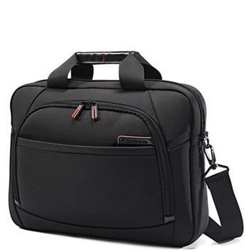 Samsonite 4 DLX Slim Nylon and Leather Briefcase