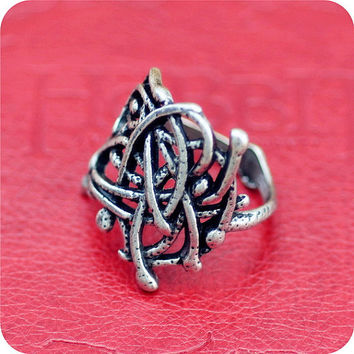Hobbit lord of the rings inspired sindarin legolas thranduil mirkwood ring