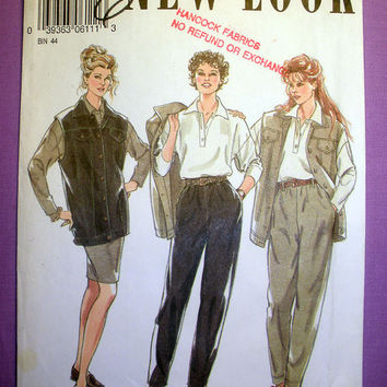 Women's Jacket, Top, Skirt, Trousers Misses' Size 8 - 18 New Look 6111 Sewing Pattern Uncut