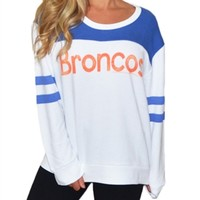 Denver Broncos Color Block Varsity Sweatshirt | SportyThreads.com