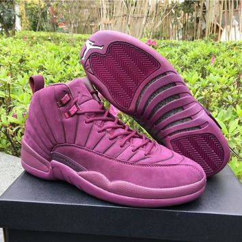 Air Jordan Retro 12 Discount AJ12 PSNY x Purple Cheap Sale JD 12 Men Sports Basketball