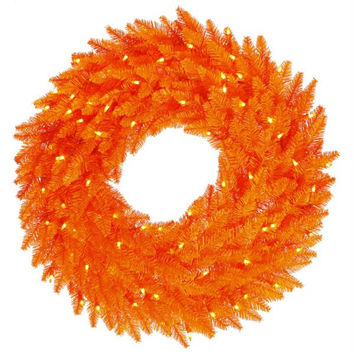 Halloween Wreath - 210 Orange Tips