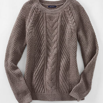 Women's Lofty Blend Cable Sweater from Lands' End