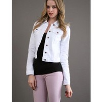 Joe's Bonnie Jacket - White - The Blues Jean Bar, the Best Place to Buy Jeans!