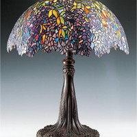 "0-000300>31""h Tiffany Wisteria Table Lamp"