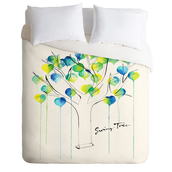 CMYKaren Swing Tree Duvet Cover