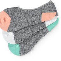 Empyre 3 Pack Pop Toe Speckle No Show Socks