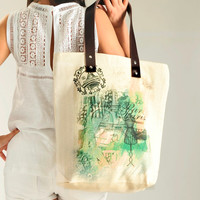 Paris Girl Summer Shoulder Bag Tote Bag