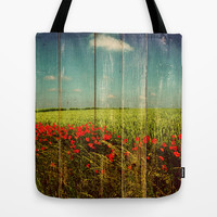 Summer landscape Tote Bag by Yasmina Baggili