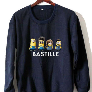 bastille minion Sweatshirt Crewneck Men or Women Unisex Size
