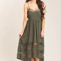 Leah Olive High Low Dress
