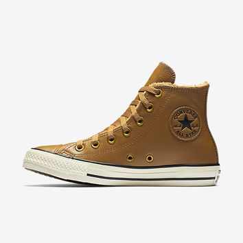 The Converse Chuck Taylor All Star Leather and Faux Fur High Top Women's Shoe.