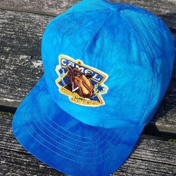Vtg Camel Cigarettes Joe Cool snapback Smooth Character hat cap Tobacco Smokers Dope