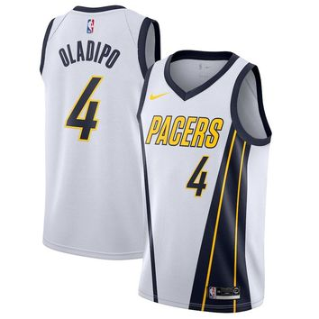 Men's Indiana Pacers Victor Oladipo Nike White 2018/19 Swingman Jersey – Earned Edition - Best Deal Online