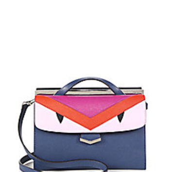 Fendi - DemiJour Small Monster Saffiano Leather Crossbody Bag - Saks Fifth Avenue Mobile
