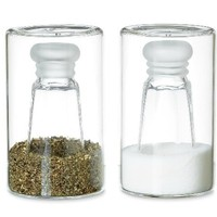 reverse salt and pepper - a modern, contemporary salt and pepper shaker from chiasso