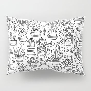 Succulents & Cactus Pillow Sham by Inspire Your Art