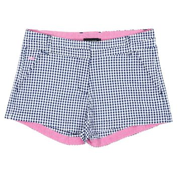 Gingham Brighton Short in Navy by Southern Marsh