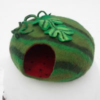 cat bed/ cat cave/ cat house/ cat nap cocoon/ Watermelon