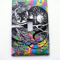 Light Switch Cover - Light Switch Plate Cheshire Cat Alice In Wonderland
