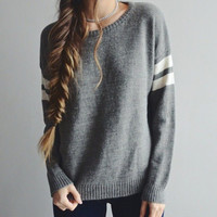 Grey Oversized Sweater (Small/Indie Brands)