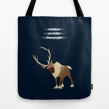 Sven // Frozen Tote Bag by Lukas Emory