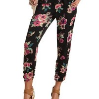Floral Print Jogger Pants by Charlotte Russe