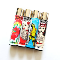 Combo 4 pack of Clipper Lighters.