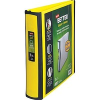 Staples Better 1.5-Inch D 3-Ring View Binder, Yellow (19060) | Staples