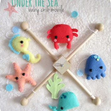 Ocean Baby Mobile - Under the Sea - Nursery Decor - Custom colors