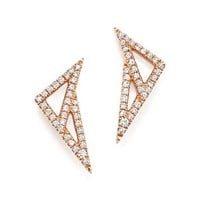 Dana Rebecca Designs14K Rose Gold Aria Selene Geometric Earrings with Diamonds