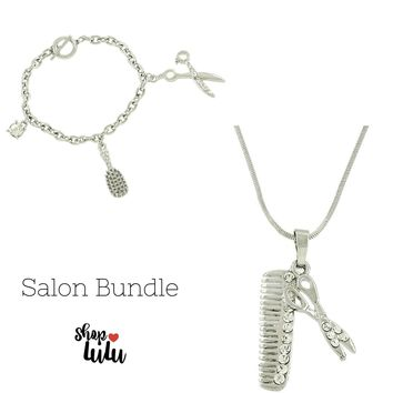 Hair Salon Jewelry Bundle in Silver