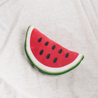 Watermelon Emoji Pillow