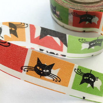 Sticky Washi Tape | Japan Adhesive Tape | Decorative Masking Tape | Scrapbooking Tools Favor Stationery | Black Cats 10m K18