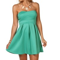 Sale-jade Banded Skater Dress