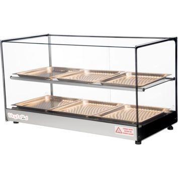 """Commercial Countertop Food Warmer Display Case 33"""" with 6 Trays"""