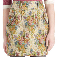 What You're Brocade Of Skirt | Mod Retro Vintage Skirts | ModCloth.com